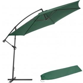 Parasol Colgante lateral aluminio 3 m color verde