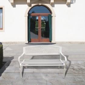 Banco Jardin Papillon Dothan Blanco 128x56x85 cm