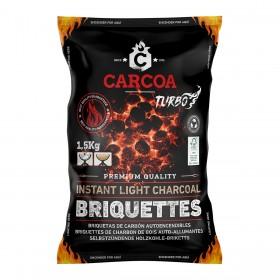 Briquetas de Carbón 1,5 kg Autoencendibles  Carcoa