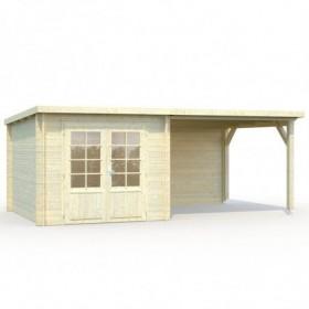 Cabaña de madera Palmako ella 6.9 + 8.2 m2 550 x 320 cm frb28-5330
