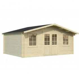 Cabaña de madera Palmako klara 17.0 m2 504 x 380 cm fr28-5038-2