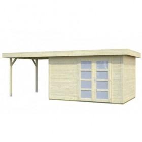 Cabaña de madera Palmako lara 8.4 + 5.9 m2 587 x 250 cm fr28-5925