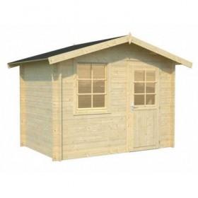 Cabaña de madera Palmako klara 4.7 m2 296 x 200 cm fr28-3020