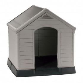 Caseta Perro Resina Dog Kennel Gris Keter 95x99x99 cm
