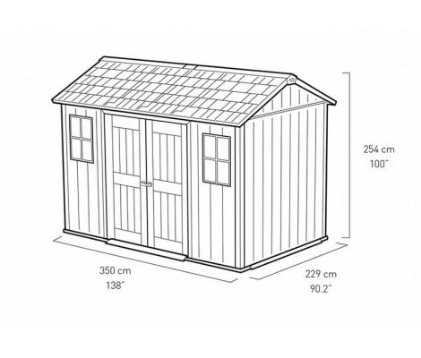 Caseta de Resina KETER OAKLAND 1175 SD - 230167 - 350 X 229 X 254 cm