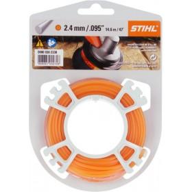 STIHL Hilo de Corte redondo Ø 2,4 mm naranja